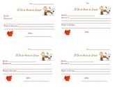 Spanish Thanksgiving card-write a short card to a teacher