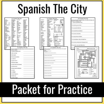 Spanish City Packet for Practice (La Ciudad)