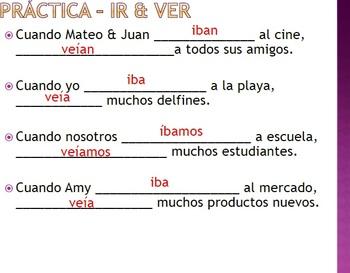 Spanish The Imperfect El Imperfecto
