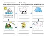 Spanish: Water Cycle Worksheet (El ciclo del agua)