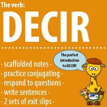 Spanish - The verb: DECIR - Intro, Practice, Respond, Write!