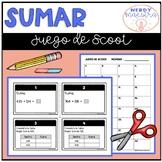 Spanish Third Grade Addition Scoot Game