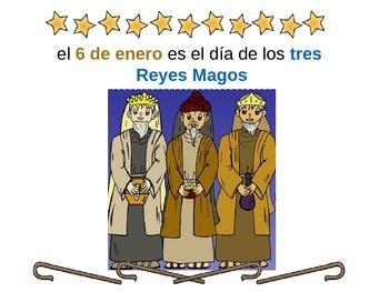 Spanish Three Kings Basic Vocabulary