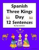 Spanish Three Kings Day Sentences Worksheet and Vocabulary - Navidad