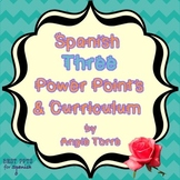 Spanish Three Power Points and Curriculum for an Entire Year
