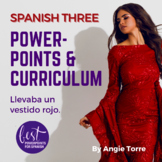 Spanish Three PowerPoints and Curriculum for an Entire Year Digital
