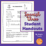 Spanish Three Student Handouts | Cheat-Sheets for an Entire Year