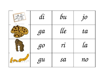 Spanish Three Syllables Blending