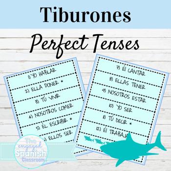 Spanish Tiburones Conjugation Games: Present Perfect and Pluscuamperfecto