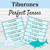 Spanish Present Perfect and Pluscuamperfecto Tiburones Con