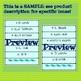 Spanish Conjugation Game PREVIEW // SAMPLE