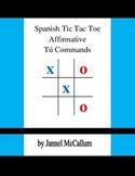 Spanish Tic Tac Toe Game - Affirmative Tú Commands