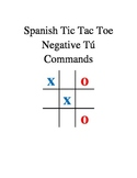 Spanish Tic Tac Toe Game - Negative Tú Commands