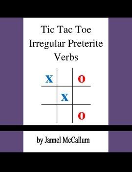 Spanish Tic Tac Toe - Irregular Preterite Verbs