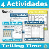 Spanish Telling Time Games Activity Bundle - Spanish Games