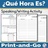 Spanish Time Activity Que Hora Es
