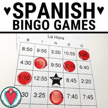 Spanish Time Bingo - Telling time in Spanish #lomejorde2017