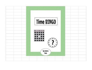 Spanish Time BINGO-practice telling time