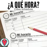 Spanish Time | Spanish Class Schedule & Speaking Activity