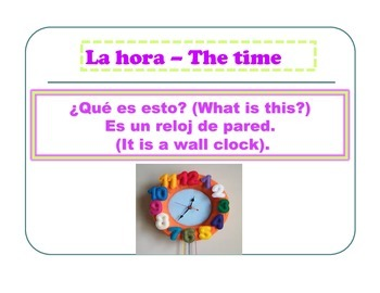 Spanish Time La Hora