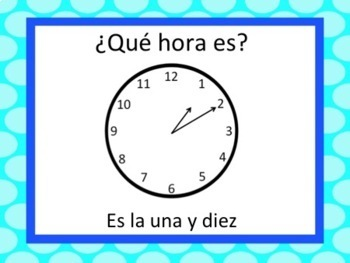 Spanish Time Lesson - After the Hour :05-:30