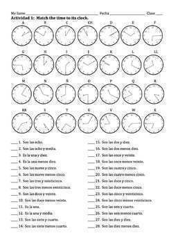 Spanish Time Lesson - all times