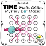 Spanish Time Mystery Dot Mazes Winter Edition
