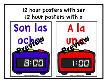 Spanish Time Posters