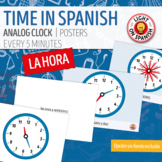 Spanish Time Posters Flashcards La hora en español