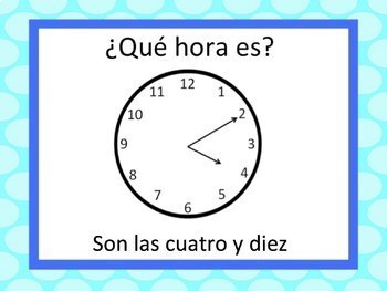 Spanish Time Powerpoint - After the Hour :05-:30