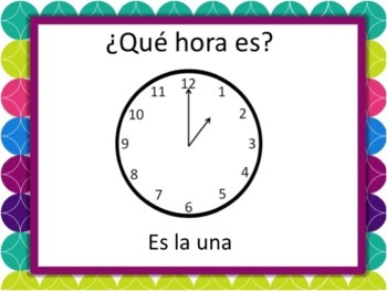 Spanish Time Powerpoint - all times