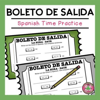 Spanish Time Practice Exit Slip