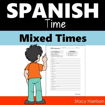 Spanish Time Practice (Mixed) (La Hora)