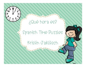Spanish Time Puzzles   BUNDLE