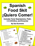 Spanish Food Skit / Speaking Activity Quiero Comer