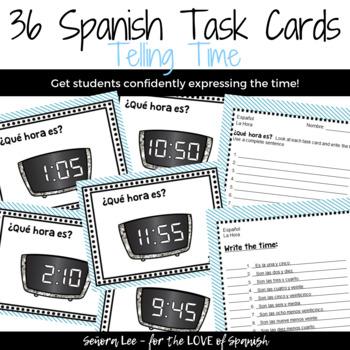Spanish Time Task Cards