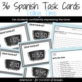Telling Time in Spanish - Spanish Task Cards - La Hora