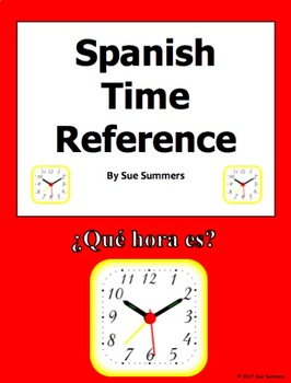 Spanish Time Vocabulary and Reference