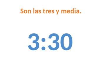 Spanish Time White Board Practice - EASY PREP