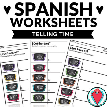 Spanish Time Worksheets - Telling Time in Spanish