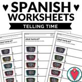 Spanish Worksheets - Telling Time in Spanish - La Hora