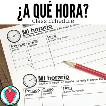 Spanish BUNDLE - Spanish Time and Classes Powerpoint, Bingo, Class Schedule