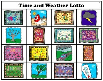 Spanish Time and Weather Lotto