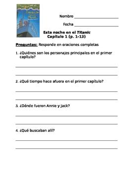 Spanish Tonight on the Titanic Book Study (El Libro Esta Noche en el Titanic)