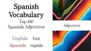 Spanish - Top 100 Spanish Adjectives PowerPoint