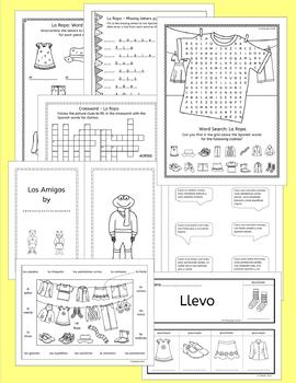 Spanish Clothing, Body, Beach, Bedroom, Colors, and more (bundle)