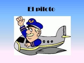 Spanish Trabajos-Presentation and student worksheets