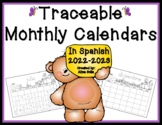 Spanish Traceable Calendars 2017-2018