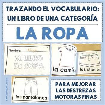 Spanish Tracing Mini-Book: La ropa - Clothing