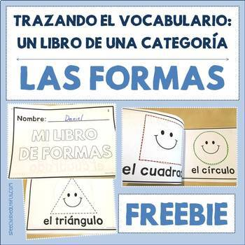 Spanish Tracing Mini-Book: Las formas - Shapes - Free Sample
